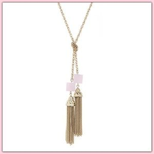 Jewelry - 🆕 Lariat Knot Cube Tassel Dainty Layer Necklace